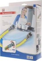 """gasslang aansluitset 1/2"""" 75cm RVS flex PVC (NL)"""