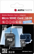 AgfaPhoto Micro SDHC UHS I 16GB Prof. High Speed U3 + Adapter