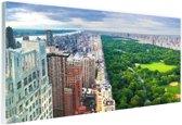 Trump Tower en Central Park Glas 30x20 cm - klein - Foto print op Glas (Plexiglas wanddecoratie)