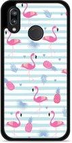 Huawei P20 Lite Hardcase Hoesje Flamingo Ananas
