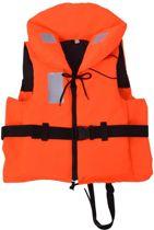 Reddingsvest Oranje 70-90 kg 100N + Veiligheidshesje - Zwemvest - Reddingvest