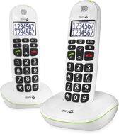 Doro PhoneEasy 110 - Duo DECT telefoon - Wit