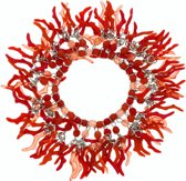 Rode elastische armband met hangers