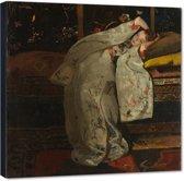 Meisje in witte kimono – George Hendrik Breitner – 70x70 cm – Rijksmuseum Collectie – PixaPrint – RM3584-1