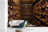 Fotobehang vinyl - Een wijnkelder breedte 600 cm x hoogte 400 cm - Foto print op behang (in 7 formaten beschikbaar)