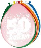 50 Jaar Sarah Ballonnen 30cm - 8 stuks