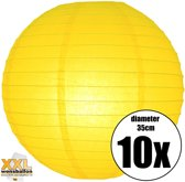 10 gele lampionnen met een diameter van 35cm
