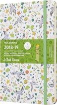 Moleskine agenda 18 maanden - Limited Edition Petit Prince - Wekelijks 2018/2019 wit patroon - Large - Hard Cover