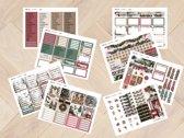 planner Stickers algemeen  KERST 2018  voor Mascha Planner