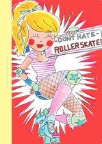 Blond Amsterdam Schrift A4 ruit Rollerskate