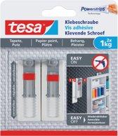 Tesa - 77775 - verstelbare klevende schroef voor behang en pleister - tot 1kg - 2 stuks