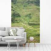 Fotobehang vinyl - De oude Rijstterrassen van Banaue in Azië breedte 335 cm x hoogte 500 cm - Foto print op behang (in 7 formaten beschikbaar)