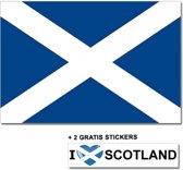 Schotse vlag met 2 gratis Schotland stickers