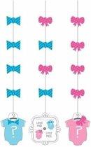 Babyshower gender reveal hangdecoratie