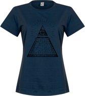 All Seeing Eye Dames T-Shirt - Navy - S