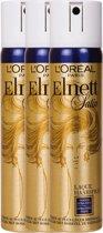 L'Oréal Paris Elnett Haarlak - 3 x 75 ml - Extra-Sterke Fixatie - Voordeelverpakking