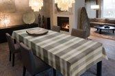 Luxe Stoffen Tafellaken - Tafelkleed - Tafelzeil - Hoogwaardig - Callisto Beige - Grijs - 140cm x 180cm