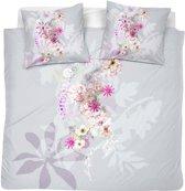 Cinderella Passiflora - Dekbedovertrek - Zilver - 2 - persoons - 200x200/220