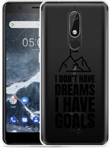 Nokia 5.1 Hoesje Goals are for Men