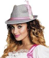 Roze Bavariaanse hoed voor dames - Verkleedhoofddeksel
