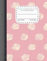 Primary Composition Notebook Top Half Blank for Drawing