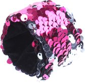 Free And Easy Paillettenarmband Little Miss Roze 21 X 4 Cm