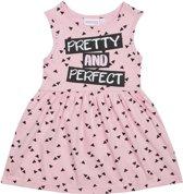 Jurkje 'Pretty and Perfect' - Zwart/Roze - Maat 122/128
