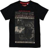 Losan Jongens Shirt Zwart met print - Maat 128