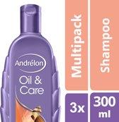 Andrélon Oil & Care Shampoo - 3 x 300 ml - Voordeelverpakking
