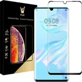 iCall - Huawei P30 Pro Screenprotector - Tempered Glass Gehard Glas - Full Screen Cover Volledig Beeld