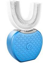 Blauwe Elektrische tandenborstel + tanden witten bleken + gratis tandpasta