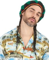 Reggae rasta pruik met muts - Verkleedpruik - One size