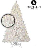 Witte kerstboom Excellent Trees® LED Stavanger white 120 cm - Luxe uitvoering - 160 Lampjes