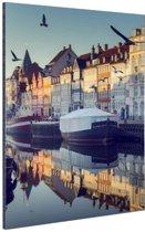 FotoCadeau.nl - Nyhavn in de ochtend Aluminium 80x120 cm - Foto print op Aluminium (metaal wanddecoratie)