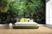Riviertje in tropische jungle Fotobehang 380x265