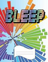 Bleep: Wide Ruled Line Paper Notebook for Primary School, Journaling, or Personal Use.