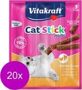 Vitakraft cat-sticks mini kalkoen en lam - 20 stuks à 26 gr