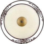 EGLO Mestre Wand/Plafondlamp - 1 Lichts - Antiek-Bruin, Goud - Wit