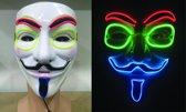 Masker EL WIRE ANONYMOUS - V FOR VENDETTA  | Carnaval |Feest| Halloween| Vendetta