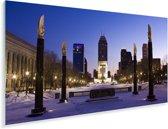 De geweldige horizon van Indianapolis met een blauwe lucht in de Verenigde Staten Plexiglas 40x20 cm - Foto print op Glas (Plexiglas wanddecoratie)