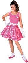Rock & Roll Kostuum | Roze Rock And Roll Boogie Woogie | Vrouw | Large | Carnaval kostuum | Verkleedkleding