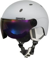 Sinner Titan Visor Unisex Skihelm - Wit - Maat M/58 cm