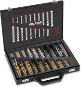 Kreator KRT012800 Borenset - 120 delig - Voor hout, metaal en steen