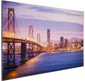 FotoCadeau.nl - Avondlicht San Francisco Aluminium 90x60 cm - Foto print op Aluminium (metaal wanddecoratie)