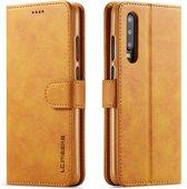 Huawei P30 Hoesje - Luxe Book Case - Bruin