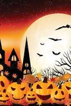 Churchyard Halloween Grid Notebook