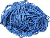 1 kg - Elastiek - blauw - diameter 80mm - breedte 1,5mm - in zak