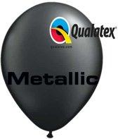 Ballonnen Metallic Zwart 30 cm 100 stuks
