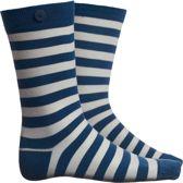 sokken - blauw/wit gestreept 39-42