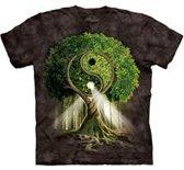 T-Shirt Mountain Artwear Yin Yang Tree Zwart XL